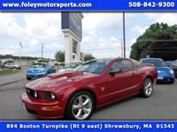 1-OWNER 2009 FORD Mustang GT Premium Coupe finished in