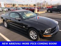 CARFAX One-Owner. Black 2009 Ford Mustang V6 RWD