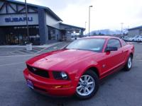 Options:  2009 Ford Mustang V6|Red|2009 Ford Mustang V6