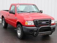 Options:  2009 Ford Ranger Xl|Red|2D Standard Cab|Abs