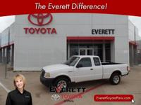 2009 Ford Ranger XL White 2.3L I4 DOHC 5-Speed Manual