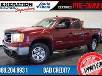 Extended Cab, 4WD, Sonoma Red Metallic, and 2009 GMC