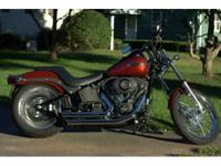 2009 Harley Davidson FXSTB Night Train. Excellent