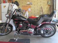 2009 Harley Davidson Softail Custom, Black with Lots of