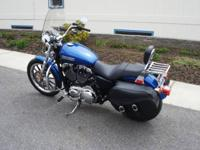 2009 Harley Davidson XL200L Low, gorgeous flame blue