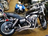 PRE OWNED HARLEY DYNA FAT BOB. ONLY 12,835 MILES.