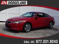 Options:  2009 Honda Accord Cpe Ex|Red/|V4 2.4L