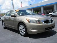 Come see this 2009 Honda Accord Sdn EX-L. Its Automatic