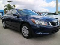 2009 Honda Accord LX 2.4 Royal Blue 30/21 Highway/City