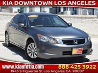 Clean CARFAX. Gray 2009 Honda Accord LX 2.4 4D Sedan