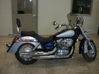This 2009 Honda VT750 Shadow Aero has ONLY 1,981 miles