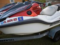For sale are TWO (2) Honda F-15 NON TURBO Jets Ski in