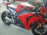 Gently used 2009 Honda CBR 1000 with only 7,800 miles.