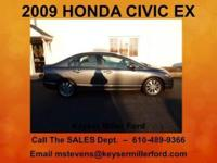 GET YOUR HONDA HERE! This 2009 HONDA CIVIC EX is ready