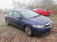 Options:  2009 Honda Civic Ex|Blue|Clean Carfax|Alloy