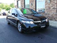 Scores 36 Highway MPG and 25 City MPG! This Black Honda