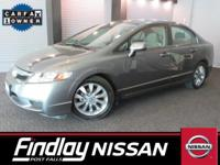 Come see this 2009 Honda Civic Sdn EX. Its Automatic