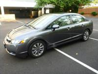 2009 HONDA CIVIC, EX-L, LOW MILES, SUNROOF, LEATHER,