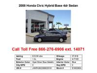 2009 Honda CivicHybrid Base 4dr Sedan Sedan 4 Doors
