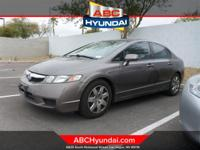 CARFAX One-Owner. Magnetic Pearl 2009 Honda Civic LX