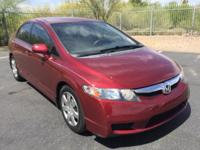 CARFAX ONE OWNER! Civic LX, 4D Sedan, 5-Speed Automatic