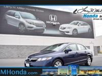 Delivers 36 Highway MPG and 25 City MPG! This Honda