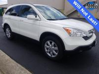 CARFAX One-Owner. Clean CARFAX. White 2009 Honda CR-V