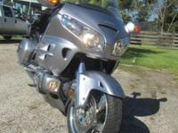 Beautiful 2009 silver Goldwing 1800. This motorcycle