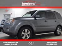2009 Honda Pilot EX-L in gray, **ONE OWNER**, **LOCAL