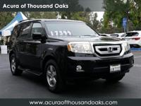 Options:  2009 Honda Pilot Ex-L|Black/|V6 3.5L