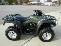 2009 Honda Rubicon 4X4 ATV, Green, Only 139 Miles ! 2