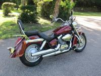 2009 Honda Shadow 750 Aero Red, 3200 Miles, Retired