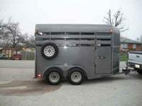 This is a 2-horse trailer that is in good shape.It is a