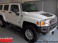 CARFAX One-Owner. Clean CARFAX. WHITE 2009 Hummer H3
