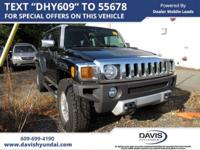 Black 2009 Hummer H3 Adventure 4WD 4-Speed Automatic