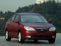 Hyundai Elantra 2009 White New Price!  Options: