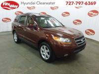 Red 2009 Hyundai Santa Fe Limited FWD 5-Speed Automatic
