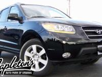 2009 Hyundai Santa Fe Limited  in Black, SUNROOF, ONE
