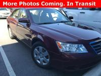 Options:  2009 Hyundai Sonata Gls|Carfax One-Owner.2.4L