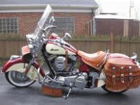 2009 Indian Chief Vintage in Indian Red and Cream with