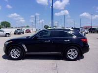This 2009 FX35 AWD is ready for the road with black