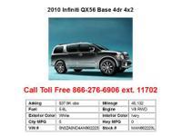 2009 Infiniti QX56 Base 4dr 4x2 SUV 4 Doors White RWD