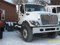 TRUCK IS DOUBLE FRAME WITH 160INCH CAB TO TRUNION. 7400