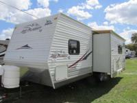 A 25' Travel Trailer with a one slide-out and power