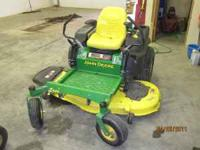 John Deere Z445 zero turn mower, 54in deck, 25 hp