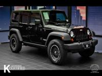 Clean CARFAX. Black 2009 Jeep Wrangler Unlimited