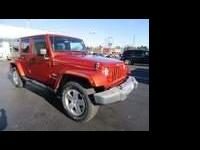 Sunburst Orange Pearlcoat/Black Soft Top 2009 Jeep