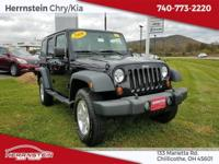 CD Player, Heated Mirrors. Black 2009 Jeep Wrangler
