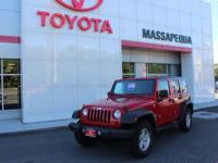 Red 2009 Jeep Wrangler Unlimited X 4WD 4-Speed