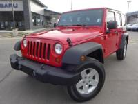 Options:  2009 Jeep Wrangler Unlimited X|Red|3.21 Axle
